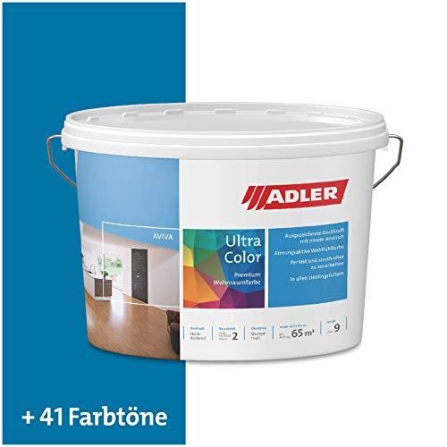 ADLER Ultra-Color Wandfarbe - Volltonfarbe und Abtönfarbe in 100+ Farbtönen - Blaubart C12 114/1 Blau 1 l Atmungsaktiv, Hochdeckend, Lösungsmittelfrei