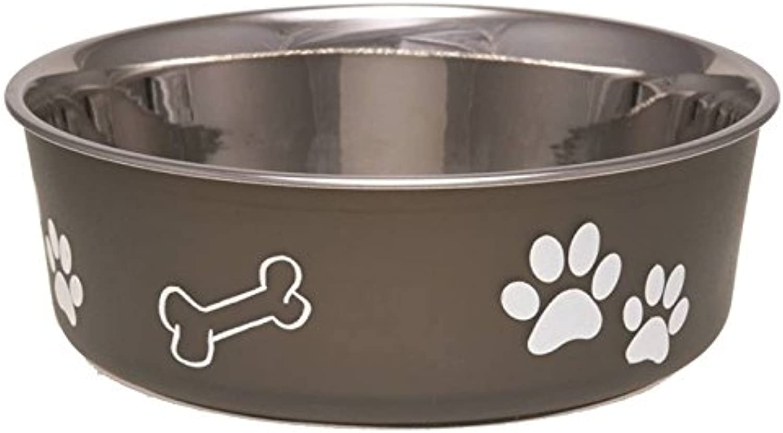 Bella Dog Bowl [Set of 2] Size  Small (2  H x 5.5  W x 5.5  D), color  Espresso