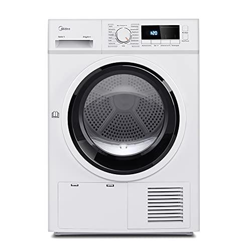 Midea Wärmepumpentrockner T 4.820 WP / 8kg / A++ /AutoDry/Knitterschutz/Trommelbeleuchtung/Reversierende Trommel/Wolle-Programm/Startzeitvorwahl