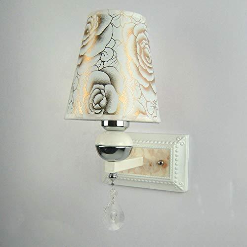 Xungzl Led Applique Lampe De Chevet Moderne Simple Créé Style Européen Applique Murale Salon Balcon Allées Escaliers Bougeoir Commutateur Illumination Mur Indicateur Lumière Liseuse