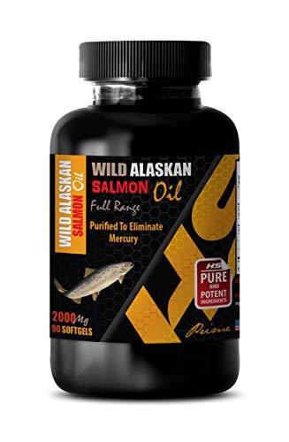 Brain Function and Focus Pills - Wild Alaskan Salmon Oil - Full Range 2000Mg - Wild Alaskan Salmon Oil for People - 1 Bottle 90 Softgels