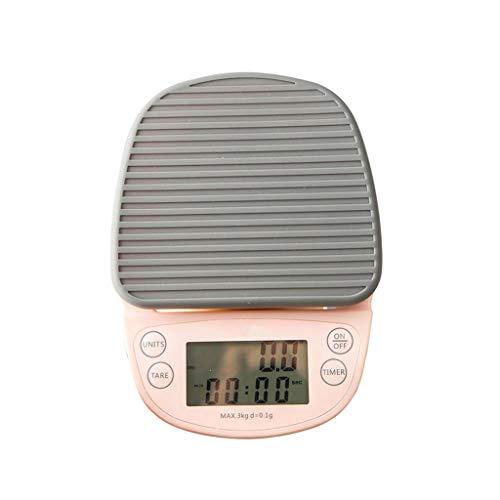 DEF Escalas de Cocina Digital Escala de Alimentos de Alta precisión con función de Tara 3kg/0.1g, Peso de Escala Gramos y oz para cocinar Hornear