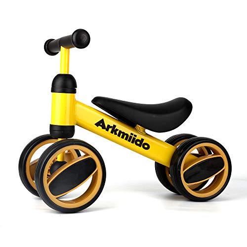 Arkmiido Bicicleta de Equilibrio para niños de 12 Meses a 2 años, Marco de Acero al Carbono, Bicicleta de Entrenamiento para Caminar sin Pedal, Regalos de cumpleaños para niños y niñas