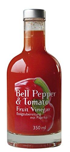 Bell Pepper & Tomato Essig - Frucht-Essig-Geschenk-Set - Paprika & Tomaten Frucht Essig– BBQ Essig - aus Paprikapüree - von Feuer & Glas