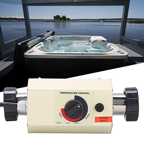 Pangding Calentador de Agua Termostato 3KW Mini Calentador Piscina Calentador de Agua Piscina Thermotank para Piscina Bañera de Masaje SPA Bath(Blanco)