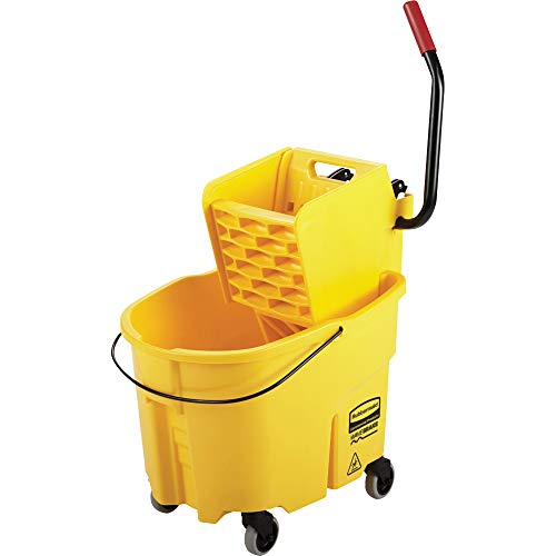 Rubbermaid Commercial Industrial Mop Bucket With Side-Press Wringer