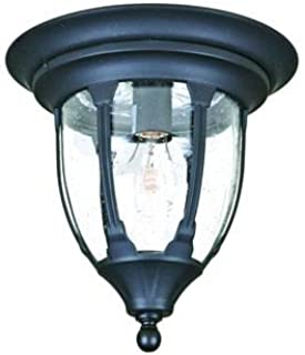 Acclaim 5063BK Suffolk Collection 1-Light Ceiling Mount Outdoor Fixture, Matte Black