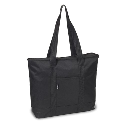 Everest Luggage Shopping Tote, Black, Black, One Size