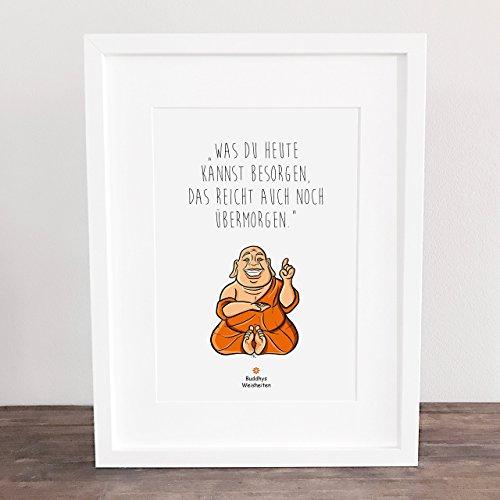 Bild, Sprüche, Deko, Geschenkidee, Buddha, Poster Buddhys Weisheiten: