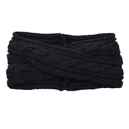 Hoofdband Vintage Hoofddeksels Hot Koop Mode Vrouwen Thermische Hand Breien Wol Parel Zoete Meisje Haar Haarband Black Zwart