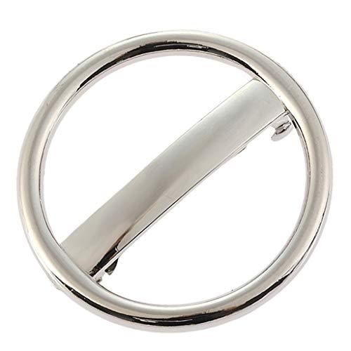Baoblaze Automatik Haarspange Federclip, klassische Metall Kreis Haarspangen, Haarnadeln für Frauen Mädchen - Silber
