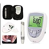 fjlove misuratore della glicemia 3 in 1 casa multifunzionale misuratore di glicemia,acido urico e colesterolo con 10 acido urico + 10 colesterolo + 25 misuratore di glicemia,3 in 1 set