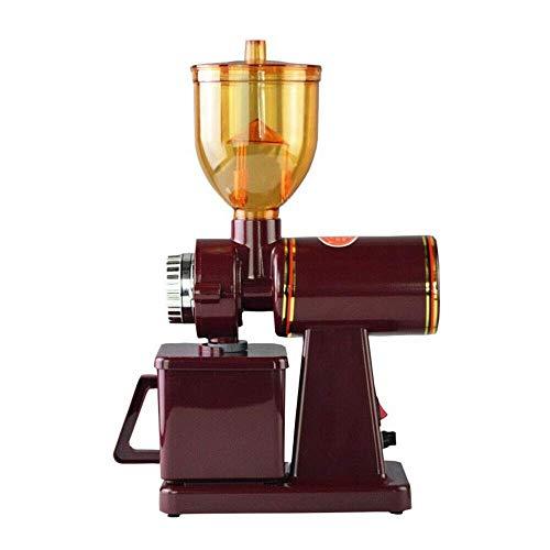 Elektrische Kaffemühle Scheibenmahlwerk Espressomühle 100W Kaffeebohnen Nüsse Gewürze Getreide Mühle (Rot)