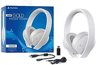 Sony Sony-CUHYA-0080-AMZ1 Playstation Gold Wireless Headset 7.1 Surround Sound PS4 New Version 2018, White Edition