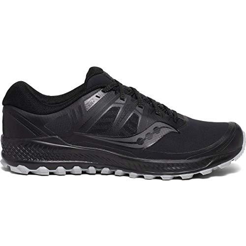 Saucony Peregrine ICE+ Men's Running Shoe, Black, 12 Medium