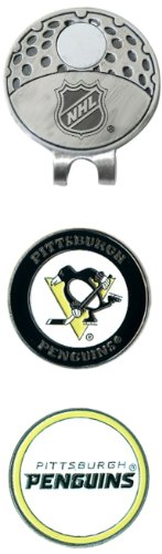Team Golf NHL Pittsburgh Penguins Golf Cap Clip with 2 Removable Double-Sided Enamel Magnetic Ball Markers, Attaches Easily to Hats