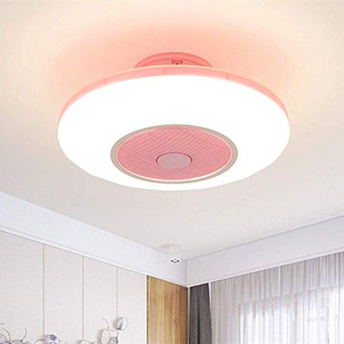 Ventilatori Da Soffitto Creativi con Luci Lampadario A Ventaglio Invisibile con Telecomando, 40 W Dimmerabile Ultra-Silenzioso Can Timing Modern Living Room Bedroom Lamp & Phi; 50 * H20Cm, White