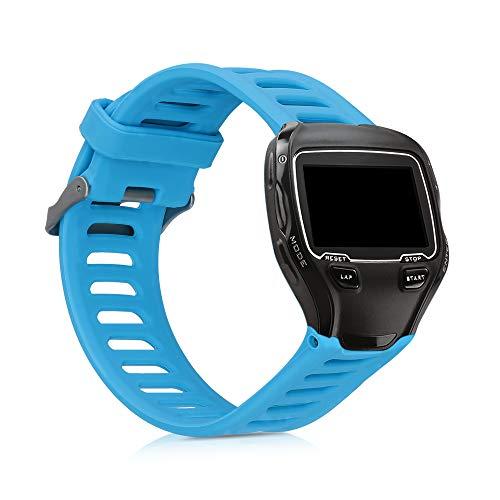 kwmobile Pulsera Compatible con Garmin Forerunner 910XT - Brazalete de Silicona en Azul sin Fitness Tracker