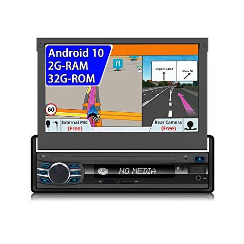 JOYX Android 10 Autoradio Radio Universal GPS Navigation | Gratuita Camera Microfono | 2G/32G | 1 Din | Supporto MirrorLink 4G WiFi DAB Bluetooth Volante Google CarAutoplay USB Split Screen |7 pollici