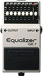top 10 graphic equalizer pedals Boss GE-7 7 Band Graphic Equalizer Pedal with 1 Year Free Extended Warranty