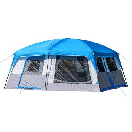 Have a Spacious Home Away from Home When Camping with Ozark Trail Flat Creek 14-Person Family Cabin Tent,with Carry Bag,Perfect for Family Camp Out with The Kiddos or Weekend Get Away