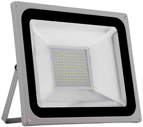 THj reg; Luz de inundación LED, Foco Exterior Blanco frío (6000-6500K), IP65 a Prueba de Agua, Luces de Seguridad de 220 V CA, 2100LM (Blanco frío, 100 W)