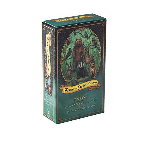 DFFH Forest of Enchantment Tarot 78 Cartas, baraja de Cartas Oracle Destiny Solitario de adivinación para Principiantes y lectores Expertos