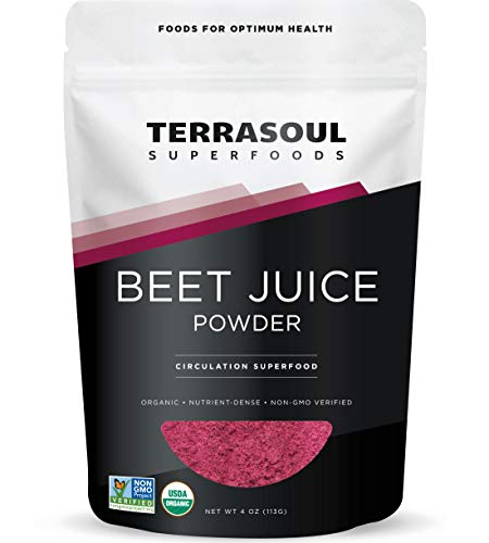 Terrasoul Superfoods Organic Beet Juice Powder, 4 Oz - Grown in USA | Concentrated Beet Juice Crystals | Energy & Stamina…