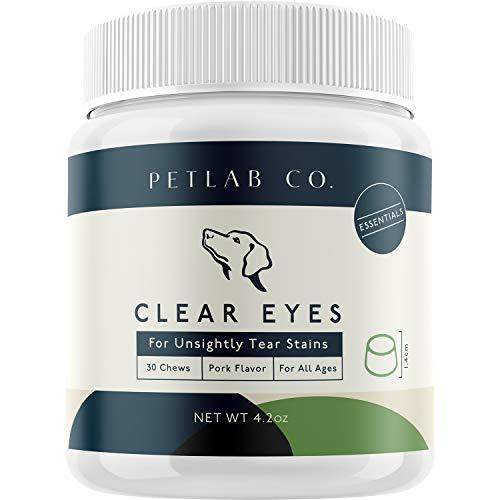 Petlab Co. ojos claros para manchas antiestéticas de lágrimas | sabrosos masticadores para apoyar la función de los ojos mantienen la salud ocular