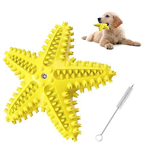 Karanice Kauspielzeug für Hunde, Pet Molar Chew Spielzeug aus Naturkautschuk, Seestern-Form, Multifunktion Interaktives Spielzeug für Hunde, Zahnbürstenspielzeug