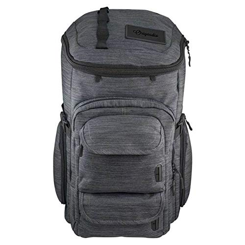 """Origaudio Mission Pack Backpack for Men & Women – Insulated Cooler Pocket for Hiking & Travel – 25L Capacity with X-Large 15"""" Laptop Sleeve & Pockets – Waterproof Durable Snow Canvas and Durable Hardw"""