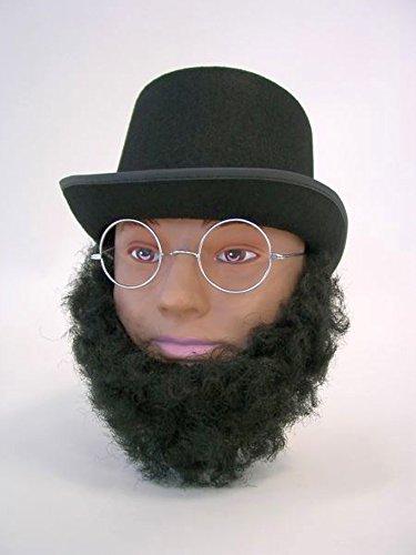 Abraham Lincoln Barba Negro Barba postiza Oscuro Arte Barba Presidente norteamericano Carnaval Barba