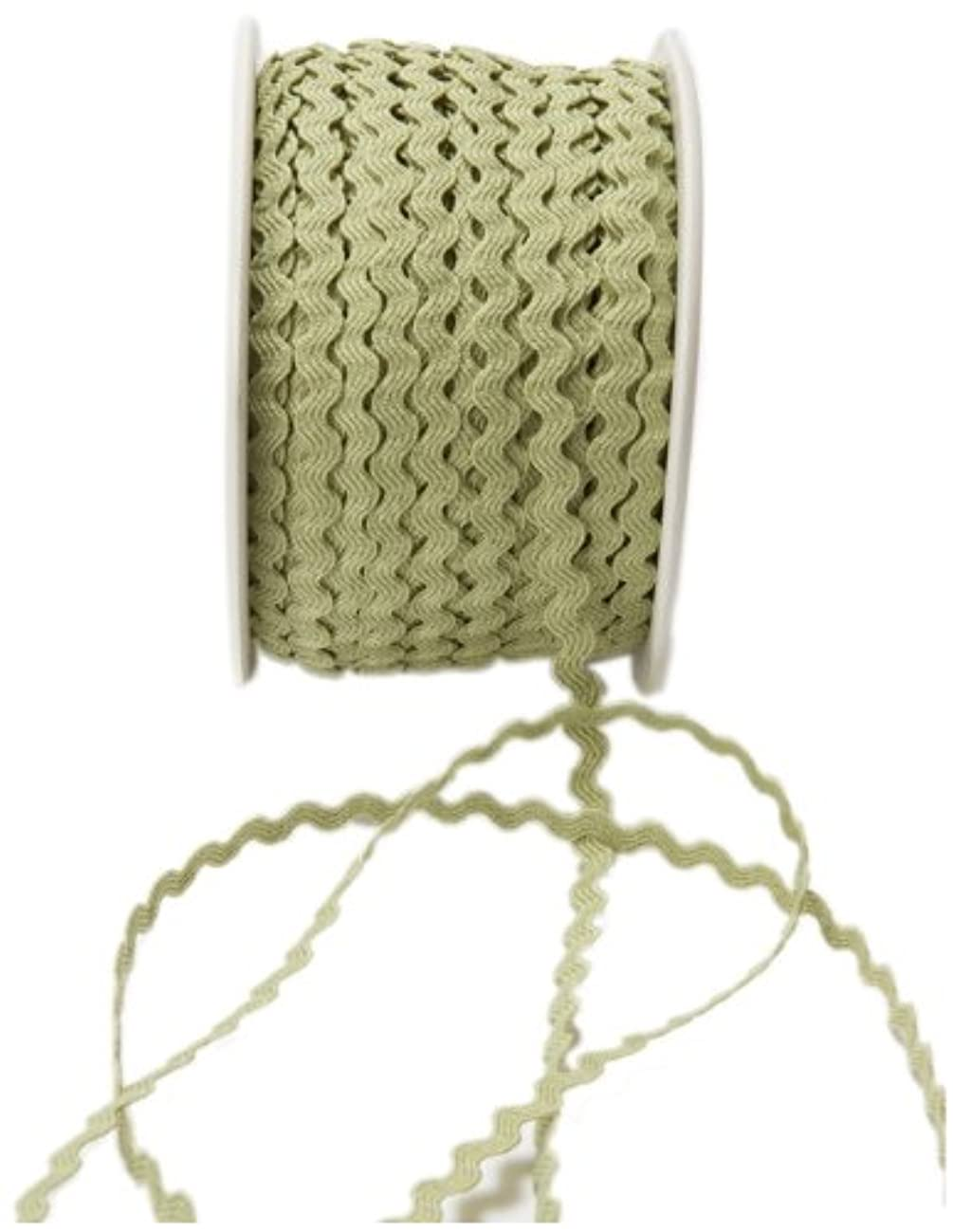 May Arts 1/8-Inch Wide Ribbon, Celery Ric Rac