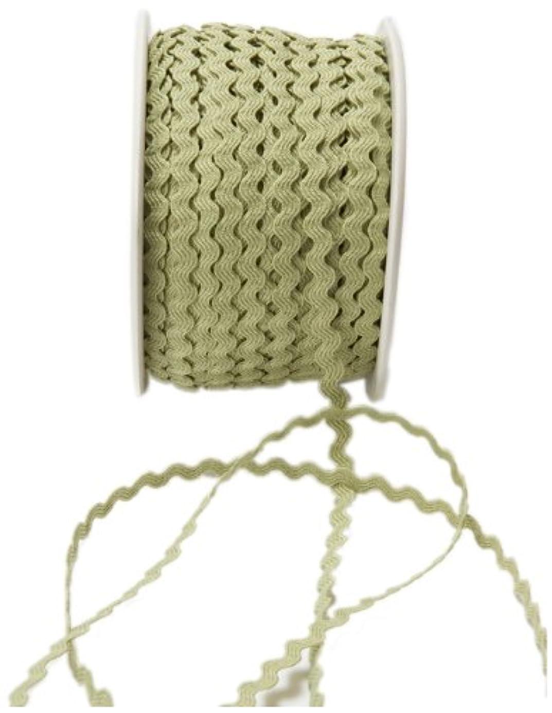 May Arts 1/8-Inch Wide Ribbon, Celery Ric Rac lbh6623900