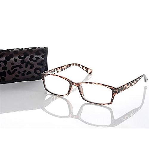 Kindler kant-en-klare bril voor heren +1,0 bruin model LOOK AND SEE leesbril flexibele beugel
