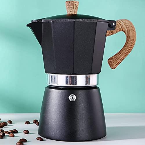 Moka Pot, 6 Cup Stovetop Espresso Maker - 10 oz Manual Cuban Coffee Percolator Machine Premium Aluminum Moka Italian Espresso Greca Coffee Maker Brewer Percolator