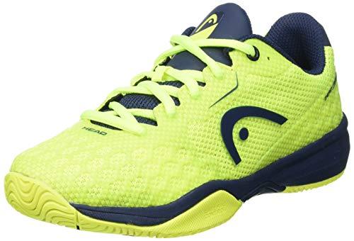 Head Revolt Pro 3.0 Junior Zapatillas de Tenis, Juventud Unisex, Neon Amarillo/Oscuro Azul, 35 EU