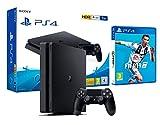 PS4 Slim 1Tb Playstation 4 Nera + FIFA 19