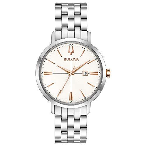 Bulova Classic Quartz Ladies Watch, Stainless Steel , Silver-Tone (Model: 98M130)