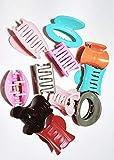Drishti Plastic Hair Claw Clip for Girls & Women Medium Size Multicolor Pack of 12…