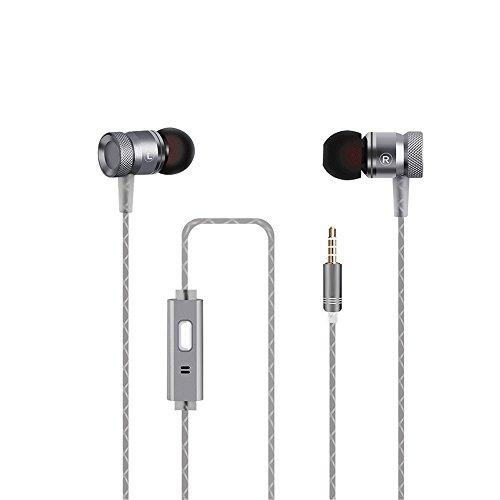 iPer - Auricolari in-ear stereo con bassi potenti con microfono, suono puro per smartphone, tablet, ios e Android, ecc.
