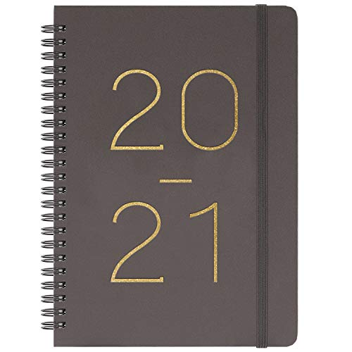 "2020-2021 Planner - Weekly & Monthly Planner with Tabs, July 2020 - June 2021, Flexible Cover with Twin-Wire Binding, Banded, 6.45"" x 8.45"""