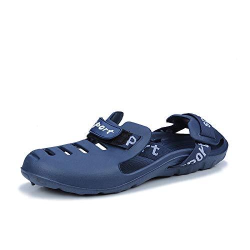 ypyrhh Zapatilla de Plataforma con cuña para Mujer,Ciabatte con Testa a Borsa grotta,Casual da spiaggia Sand-Blue_43,Zapatillas de Estar por Casa de Mujer/Hombre