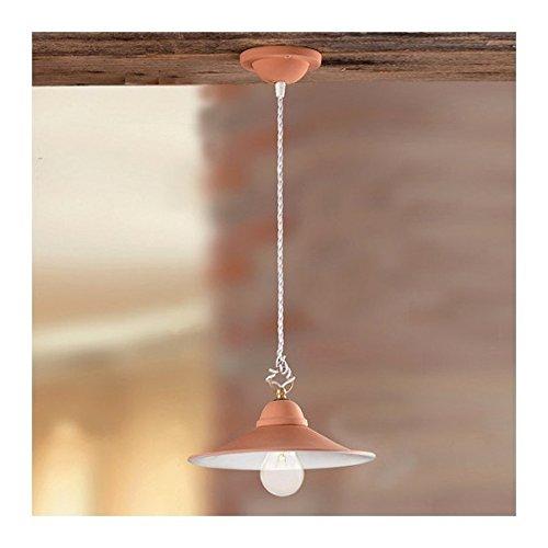 La lámpara de araña en la olla de barro suave, rústico, país - Ø 28 cm