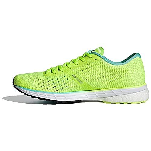 adidas Adizero Adios 5 W, Zapatillas para Correr Mujer, Hi Res Yellow Crew Navy Clear Aqua, 37 1/3 EU
