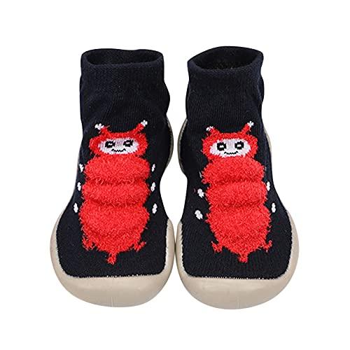 YWLINK Zapatos De Punto Transpirables para NiñOs,NiñOs Zapatos De Primeros Pasos Antideslizante Bebé Zapatos De Casa Diarios Suave EláStico Calcetines-Zapatos Zapatillas Suela Blanda CóModo