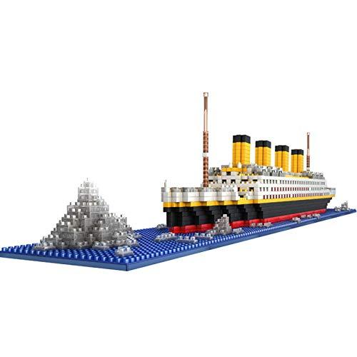 JYING Titanic Modelo de Barco de Crucero Juego de Bloques de construcción de Barcos Rompecabezas 3D Juguetes educativos de Bricolaje, Regalo para Adultos y niños (1860 Piezas)
