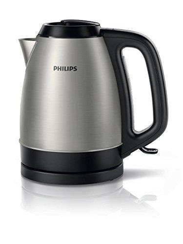 Philips - Bouilloire noire en acier inoxydable 1,5 L 2200 W (réf. HD9305/21)