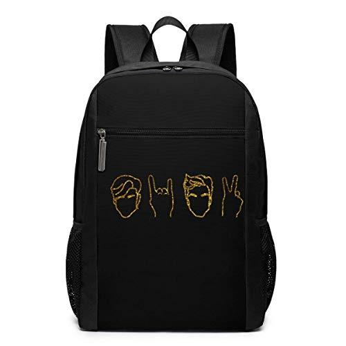 Schultasche Travel Daypack, Gold Dolan&Twins Logo Backpacks Travel School Large Bags Shoulder Laptop Bag for Men Women Kids