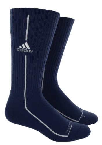 adidas Men's Team Classic Crew Sock (Collegiate Navy/White/Universe, X-Large: Men's Shoe Size 12-16)